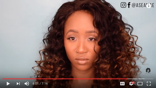 Easy OMBRE lace front wig + Flexi Rod Set By @Aseamae