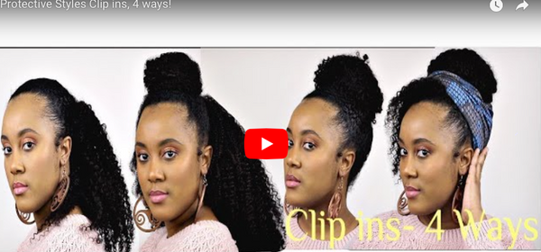 4 Ways To Style Your Hair Using Kinky Curly Clip-In's By @Nknaturalz