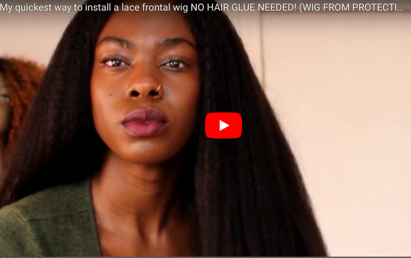 My Quickest Way To Install A Lace Frontal Wig by @Nestreya
