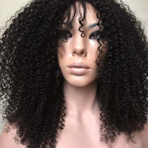 Brazilian 3B Curly Frontal Lace Wig