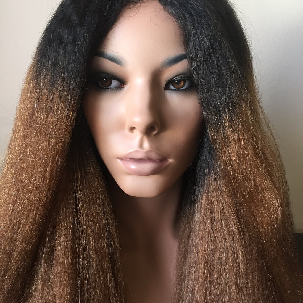 Kinky Straight Frontal (13*6) Lace Wig