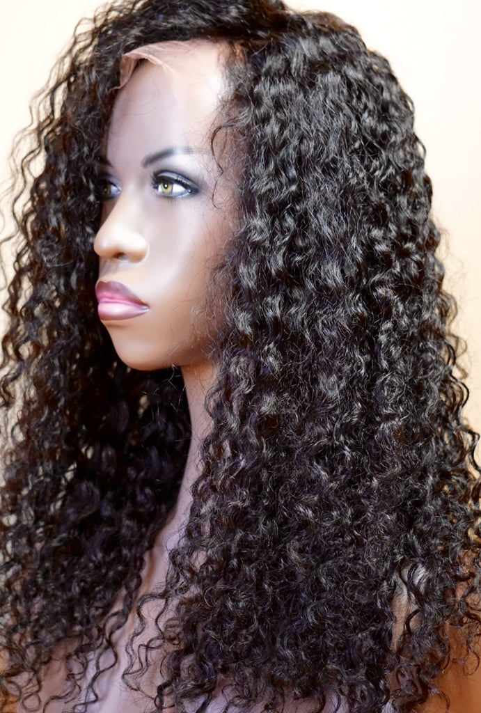 Brazilian 3B Curly Full Lace Wig
