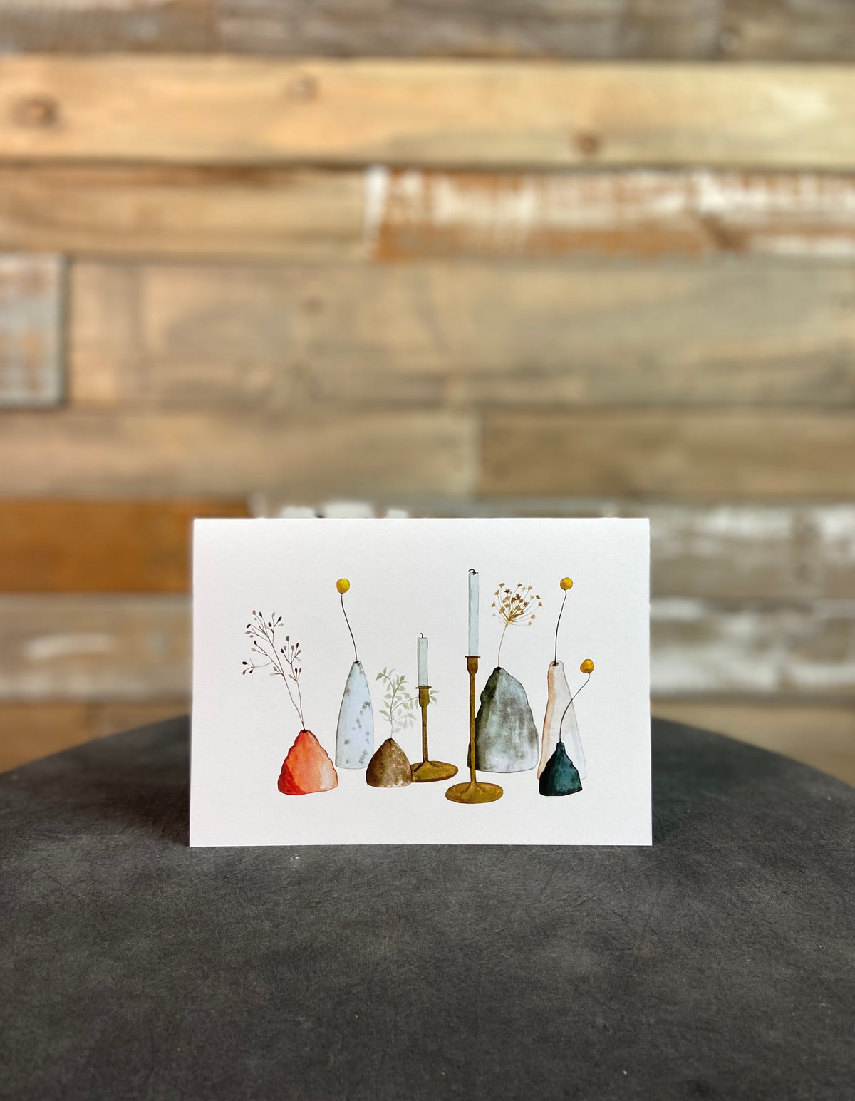 Ceramics & Candlesticks 5X7 Card