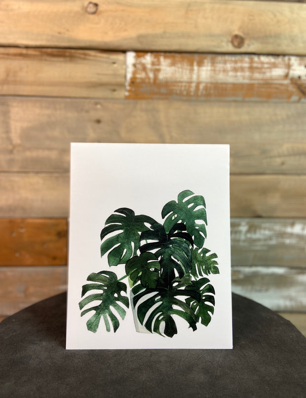 Potted Monstera Print 8X10