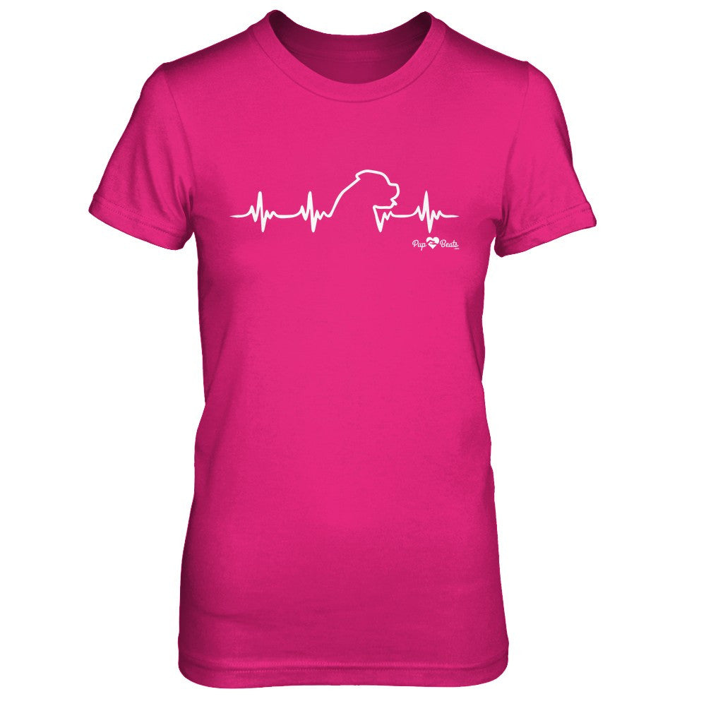 English Mastiff Heartbeat Fitted Short Sleeve Tee