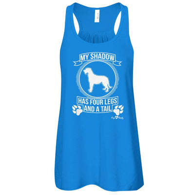 Irish Wolfhound - My Shadow Flowy Racerback Tank