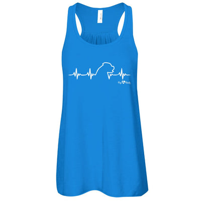 English Mastiff Heartbeat Flowy Racerback Tank