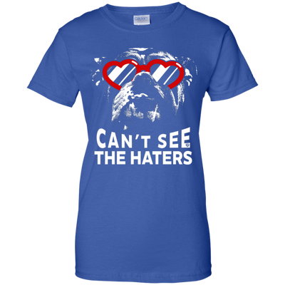 English Bulldog Can't See The Haters Ladies' T-Shirt