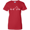 Jack russell heartbeat Ladies' T-Shirt