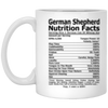 German Shepherd Nutrition Facts Coffee, Tea Mug