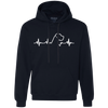 Great Dane Heartbeat Natural Ears Unisex Hoodie