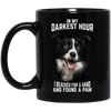In My Darkest Hour Border Collie 11 oz. Black Mug