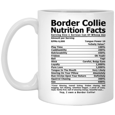 Border Collie Nutrition White Mug