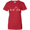 Pit Bull Heartbeat Ladies' T-Shirt