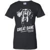 Official Dog Of The Coolest Great Dane Ladies' T-Shirt