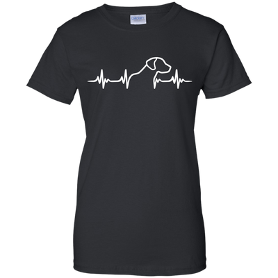 Rhodesian Ridgeback Heartbeat Ladies' T-Shirt