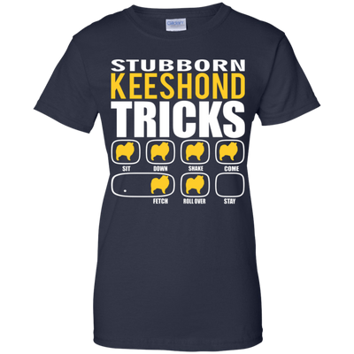 Stubborn Keeshond Tricks Ladies' T-Shirt