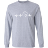 Great Dane Heartbeat Uncropped Ultra Cotton Long Sleeve T-Shirt