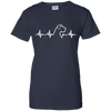 Great Dane Heartbeat Natural Ears Ladies' T-Shirt