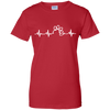 Paw Heartbeat Ladies' T-Shirt