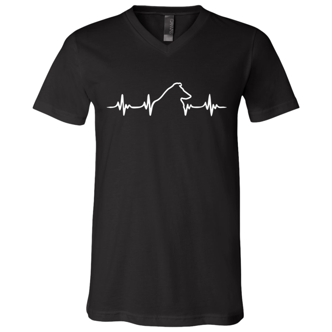 Collie Heartbeat V-Neck T-Shirt