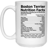 Boston Terrier Nutrition White Mug 15 oz