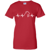 Rottweiler Heartbeat Ladies' T-Shirt