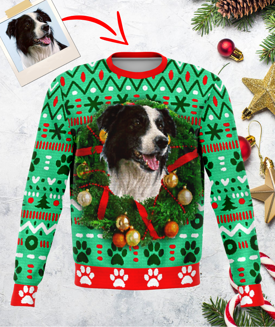Personalized Border Collie Ugly Sweater