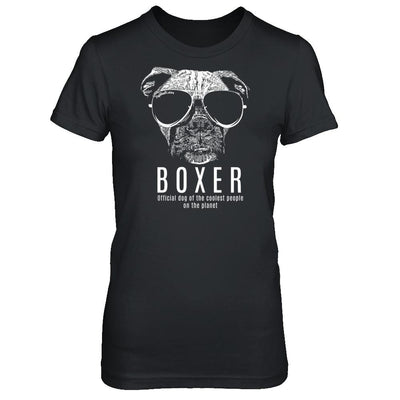 Official Dog Of The Coolest Boxer Ladies' T-Shirt
