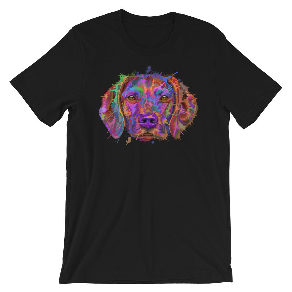 Hungarian Vizsla Splash Art Unisex T-Shirt