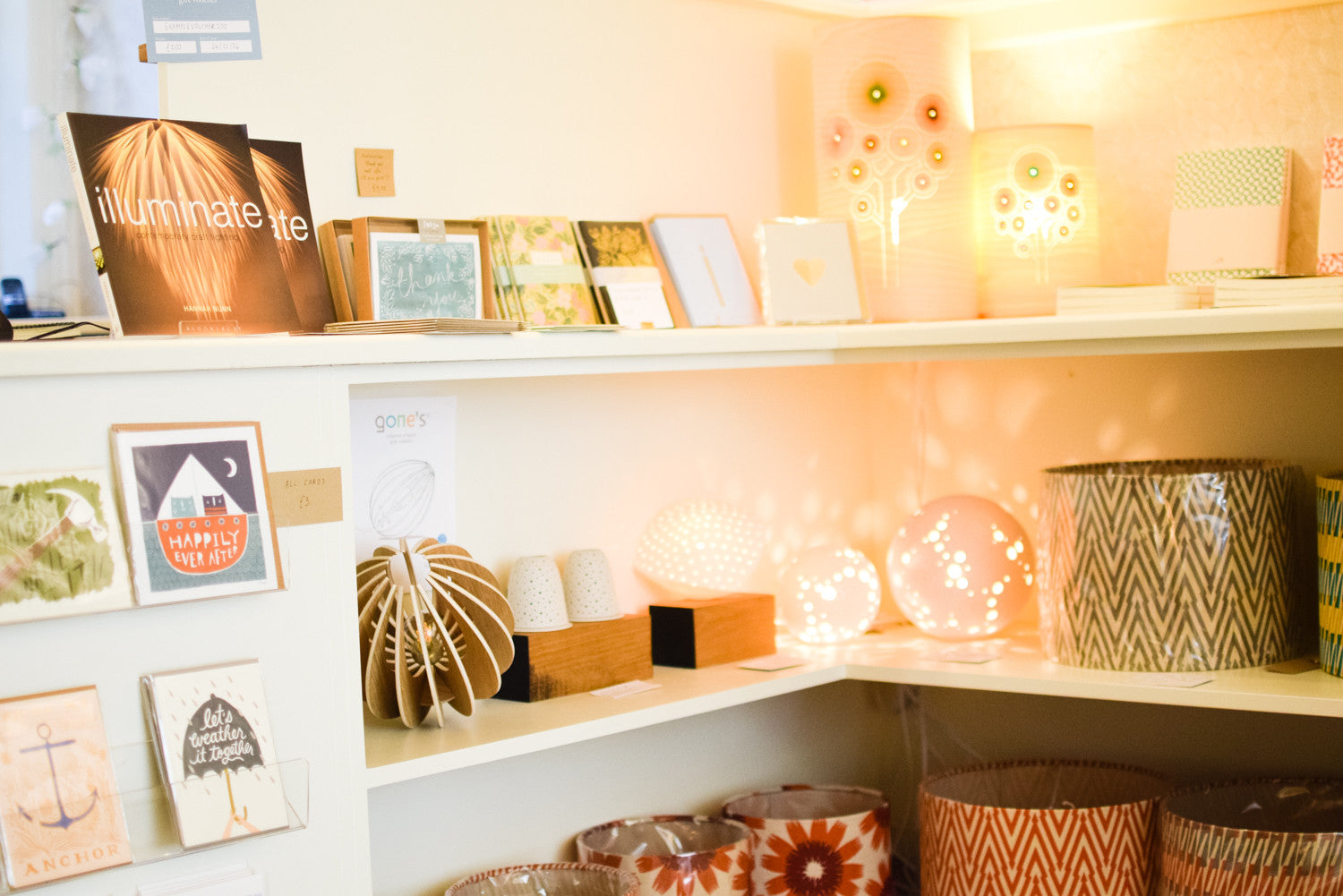 Unusual lighting, homewares and gifts at Radiance in Hebden Bridge