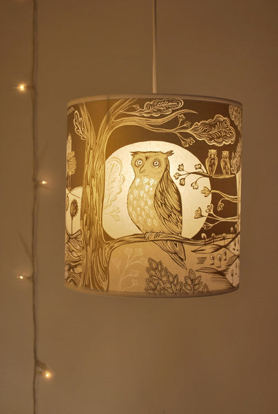 Gold and Cream Owl Shade