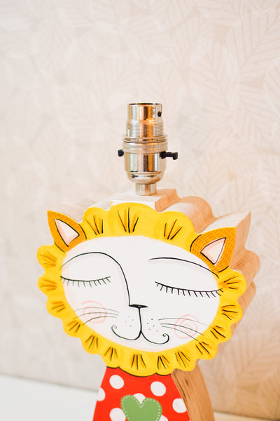 SALE Lee the lion - plywood lamp base