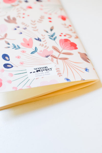 Fleurs Folk - Lined Notebook