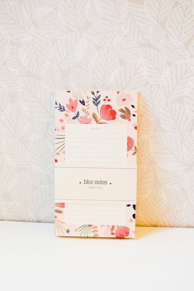 Fleurs Folk - Lined Tear-Off Notepad