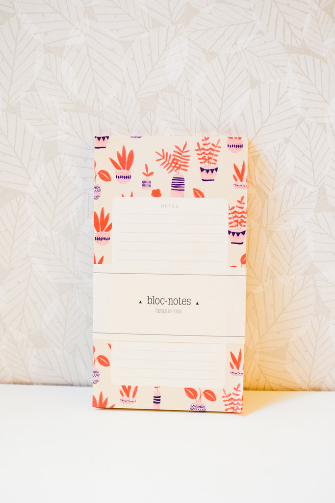 Jardin d'hiver - Lined Tear-Off Notepad