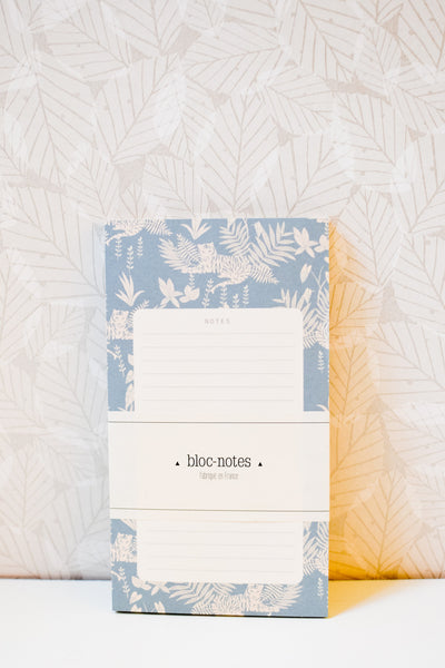 Jungle - Lined Tear-Off Notepad