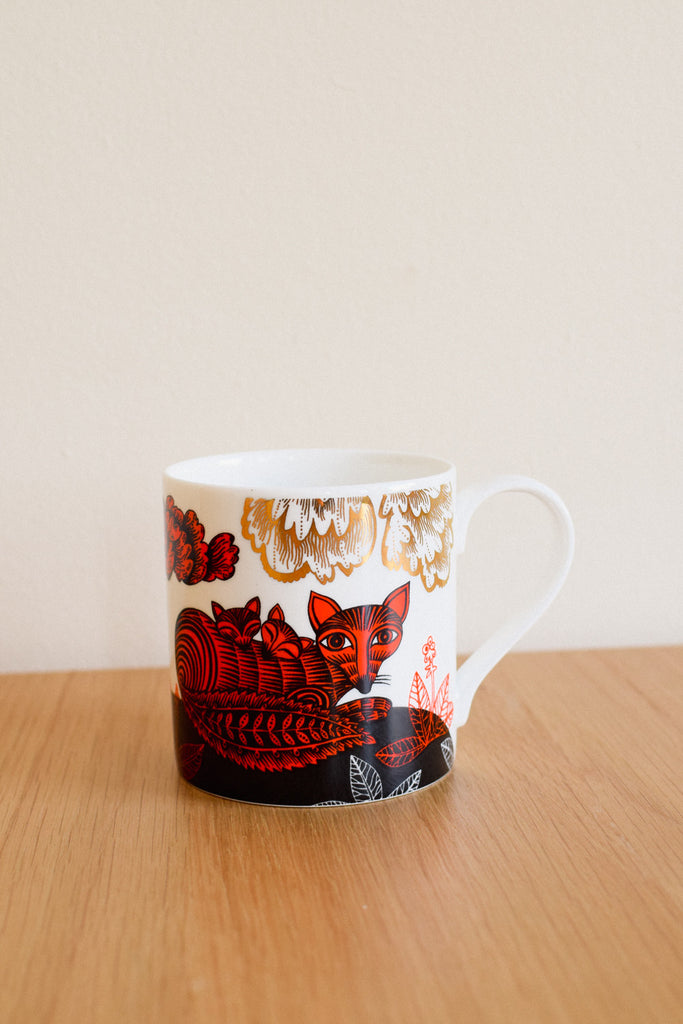 Fox and Cubs Mug