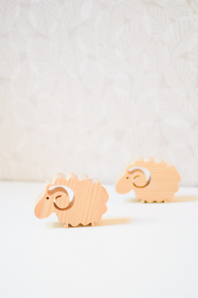 Handmade Wooden Sheep