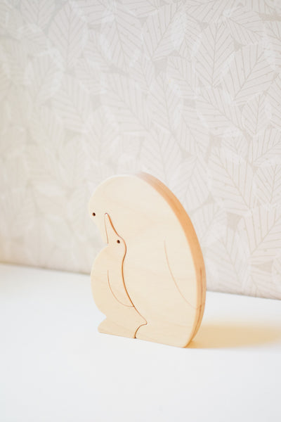 Handmade Wooden Penguins