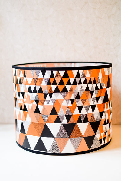 Orange / Black Triangles Shade
