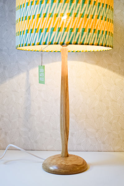 Hand-turned Wooden Lamp Base (Oak)