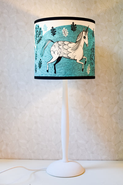 Hand-turned Wooden Lamp Base (Painted White)
