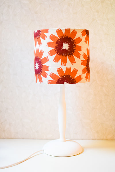 Small Hand-turned Wooden Lamp Base (Painted White)