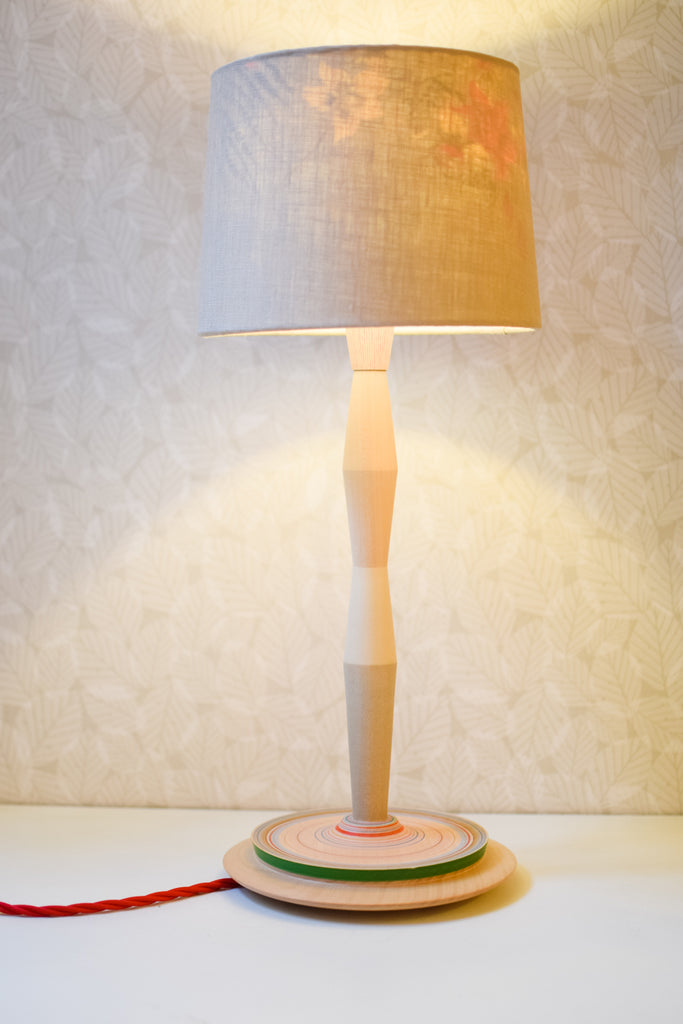 Geometric Lamp Base with Stripes no. 433