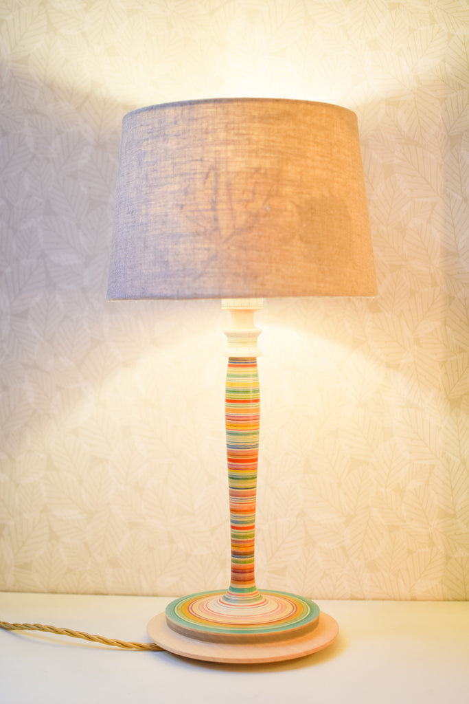 Colourful Fine Stripe Lamp Base no. 414