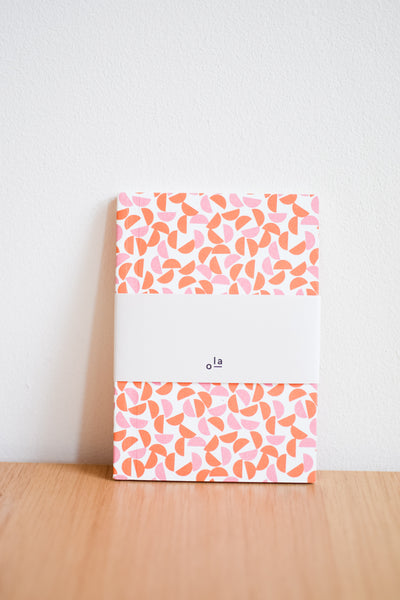 A6 'Maze' Layflat Notebook in Burnt Orange / Salmon