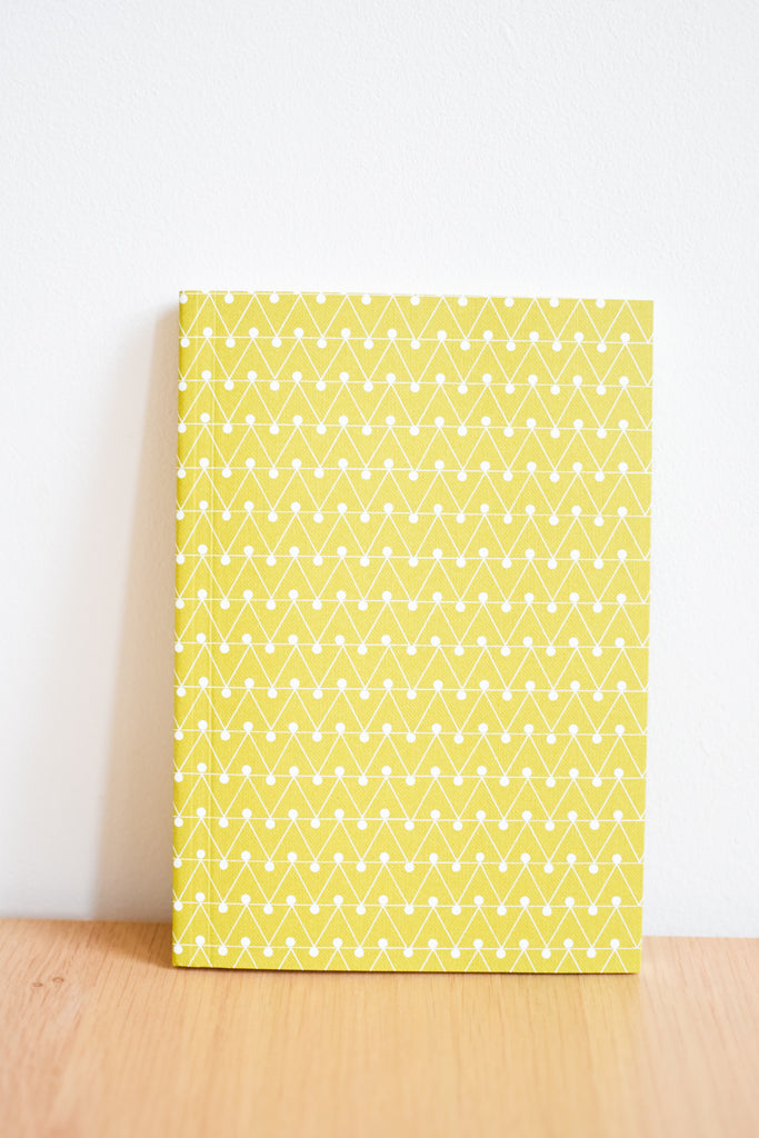 A5 'Dash' Lined Layflat Notebook in Leaf Green