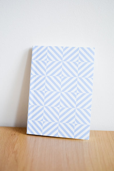 A5 'Alma' Lined Layflat Notebook in Salvia Blue