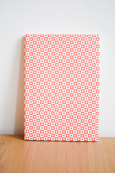 A5 'Porto' Layflat Notebook in Peach Red